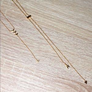 2 dainty Gorjana gold necklaces